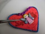 Сердце-магнит из полимерной глины – валентинка своими руками