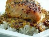 Запеченная куриная грудка с горчицей и тимьяном