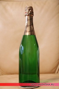 Декупаж бутылки шампанского – мастер-класс