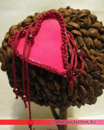 подарок своими руками на День Святого Валентина кофейное дерево