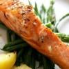 Филе лосося со стручковой фасолью