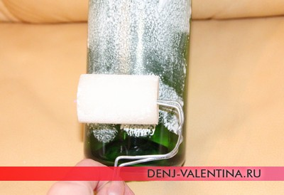 Декупаж бутылки шампанского на День Святого Валентина